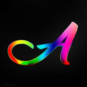 عکس پروفایل حرف A انگلیسی رنگارنگ