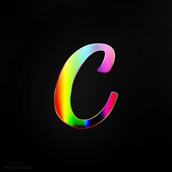 عکس پروفایل حرف C انگلیسی رنگارنگ