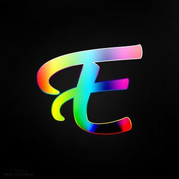عکس پروفایل حرف E انگلیسی رنگارنگ