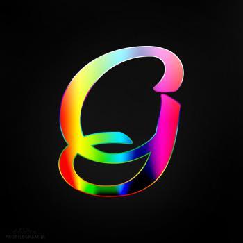 عکس پروفایل حرف G انگلیسی رنگارنگ