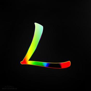 عکس پروفایل حرف L انگلیسی رنگارنگ