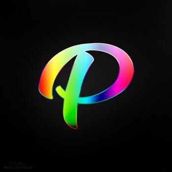 عکس پروفایل حرف P انگلیسی رنگارنگ