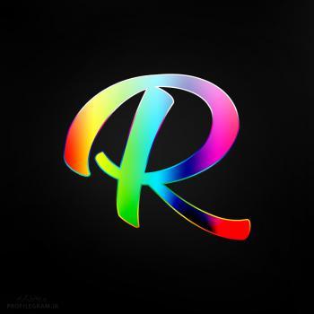 عکس پروفایل حرف R انگلیسی رنگارنگ