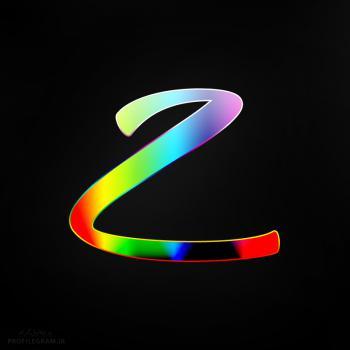 عکس پروفایل حرف Z انگلیسی رنگارنگ