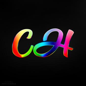 عکس پروفایل حرف CH انگلیسی رنگارنگ