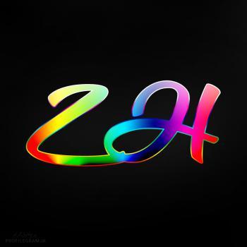 عکس پروفایل حرف ZH انگلیسی رنگارنگ