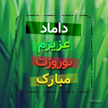 عکس پروفایل داماد عزیزم نوروزت مبارک