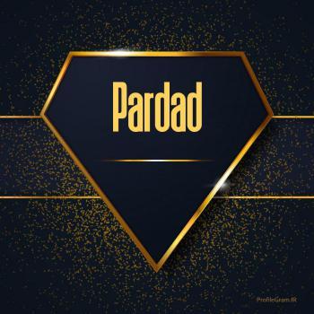 عکس پروفایل اسم انگلیسی پرداد طلایی Pardad