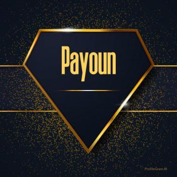 عکس پروفایل اسم انگلیسی پایون طلایی Payoun