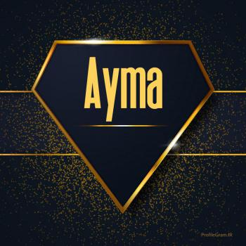 عکس پروفایل اسم انگلیسی آیما طلایی Ayma