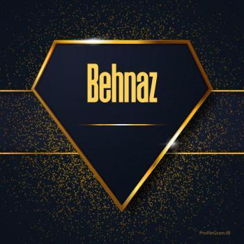 عکس پروفایل اسم انگلیسی بهناز طلایی Behnaz