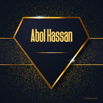 عکس پروفایل اسم انگلیسی ابوالحسن طلایی Abol Hassan