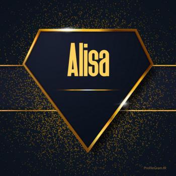 عکس پروفایل اسم انگلیسی آلیسا طلایی Alisa