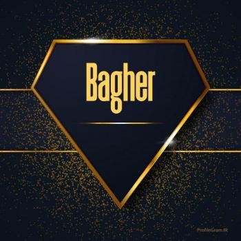 عکس پروفایل اسم انگلیسی باقر طلایی Bagher