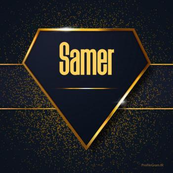 عکس پروفایل اسم انگلیسی سامر طلایی Samer