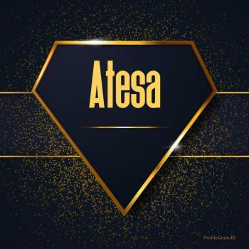عکس پروفایل اسم انگلیسی آتسا طلایی Atesa
