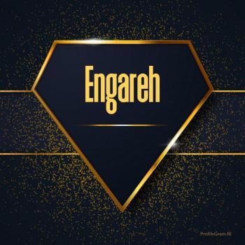 عکس پروفایل اسم انگلیسی انگاره طلایی Engareh