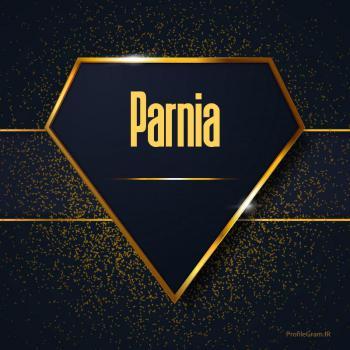 عکس پروفایل اسم انگلیسی پرنیا طلایی Parnia