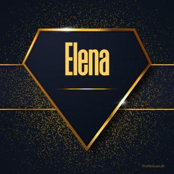 عکس پروفایل اسم انگلیسی النا طلایی Elena