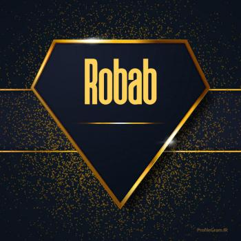 عکس پروفایل اسم انگلیسی رباب طلایی Robab