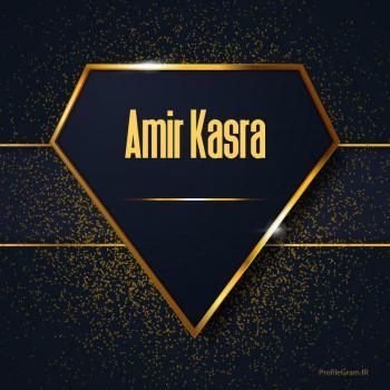 عکس پروفایل اسم انگلیسی امیرکسری طلایی Amir Kasra