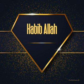 عکس پروفایل اسم انگلیسی حبیب الله طلایی Habib Allah
