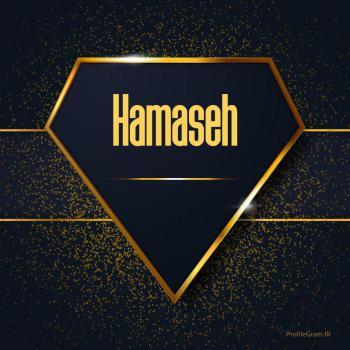 عکس پروفایل اسم انگلیسی حماسه طلایی Hamaseh