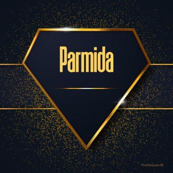 عکس پروفایل اسم انگلیسی پارمیدا طلایی Parmida