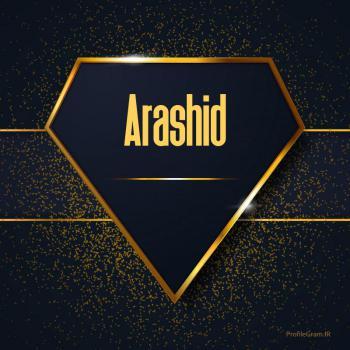 عکس پروفایل اسم انگلیسی آراشید طلایی Arashid