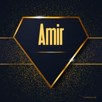 عکس پروفایل اسم انگلیسی امیر طلایی Amir