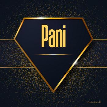 عکس پروفایل اسم انگلیسی پانی طلایی Pani