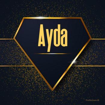 عکس پروفایل اسم انگلیسی آیدا طلایی Ayda