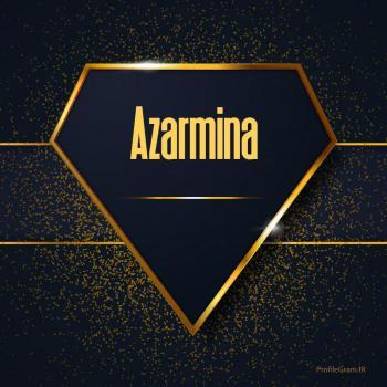 عکس پروفایل اسم انگلیسی آذرمینا طلایی Azarmina