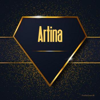 عکس پروفایل اسم انگلیسی آرتینا طلایی Artina