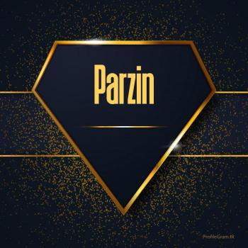 عکس پروفایل اسم انگلیسی پرزین طلایی Parzin