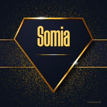 عکس پروفایل اسم انگلیسی سومیا طلایی Somia