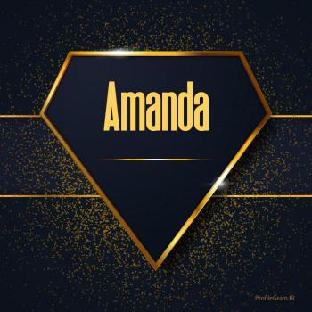 عکس پروفایل اسم انگلیسی آماندا طلایی Amanda