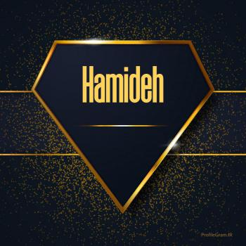 عکس پروفایل اسم انگلیسی حمیده طلایی Hamideh