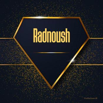عکس پروفایل اسم انگلیسی رادنوش طلایی Radnoush