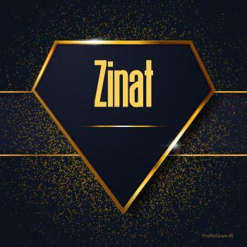 عکس پروفایل اسم انگلیسی زینت طلایی Zinat