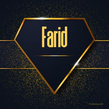 عکس پروفایل اسم انگلیسی فرید طلایی Farid