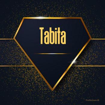 عکس پروفایل اسم انگلیسی تابیتا طلایی Tabita