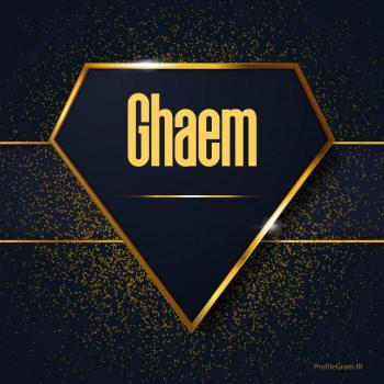 عکس پروفایل اسم انگلیسی قائم طلایی Ghaem