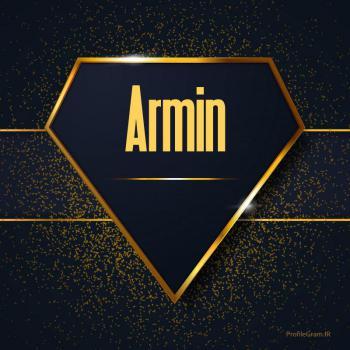 عکس پروفایل اسم انگلیسی آرمین طلایی Armin
