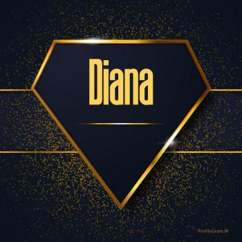 عکس پروفایل اسم انگلیسی دیانا طلایی Diana