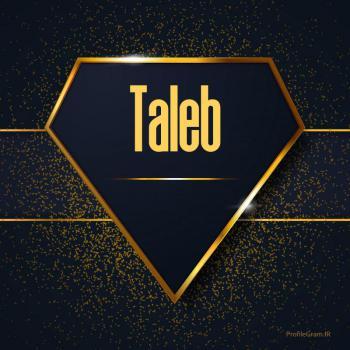 عکس پروفایل اسم انگلیسی طالب طلایی Taleb