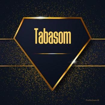 عکس پروفایل اسم انگلیسی تبسم طلایی Tabasom