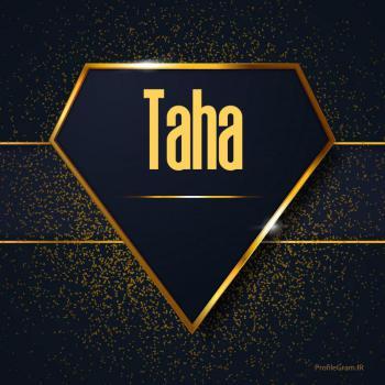 عکس پروفایل اسم انگلیسی طاها طلایی Taha