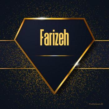 عکس پروفایل اسم انگلیسی فریضه طلایی Farizeh
