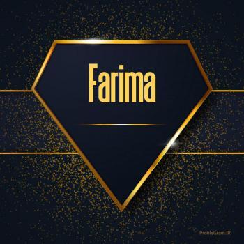 عکس پروفایل اسم انگلیسی فریما طلایی Farima